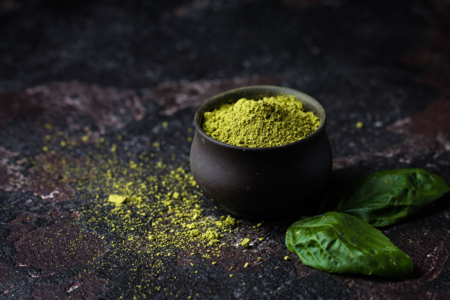 Organic Green Matcha Tea.